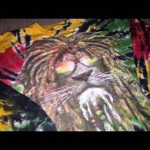 Rasta Lion Tie-dye T-Shirt